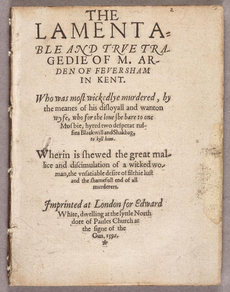 analysis of arden of faversham Computer analysis gives the bard a hand in three late 16th century dramas arden of faversham plays known as the shakespeare apocrypha have long intrigued scholars.